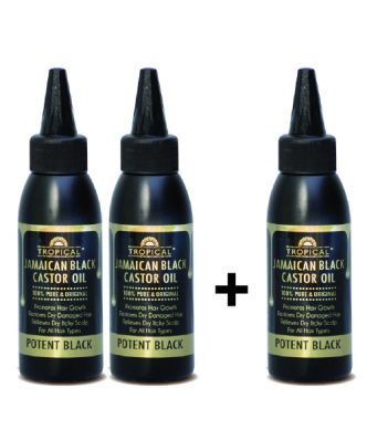 3 for 2 Tropical Jamaican Black Castor Oil